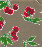 Freckled Sage oilcloth Swatch Cherries on Gold