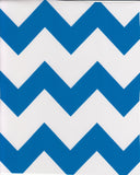 Freckled Sage Oilcloth Swatch Chevron Blue