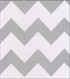 Freckled Sage Oilcloth Swatch Chevron Silver