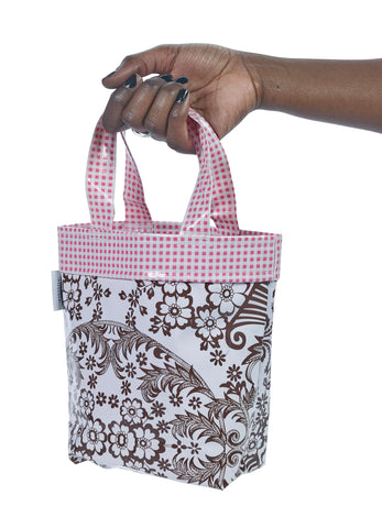 Freckled Sage Oilcloth Chickee Bag Toile Cafe