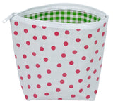 Freckled Sage Oilcloth Pink Dots Cosmetic Bag