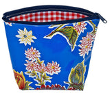Freckled Sage Oilcloth Mum Blue Cosmetic Bag