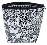 Freckled Sage Oilcloth Cosmetic Bag Black Toile
