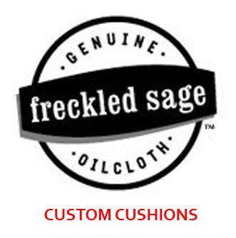 Freckled Sage Custom Oilcloth Seat Cushions