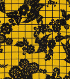 Freckled Sage Oilcloth Swatch Black on Yellow Day of Dead