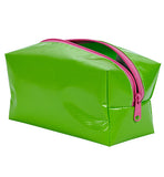 Freckled Sage Oilcloth Dopp Kit Chartreuse Lime
