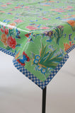 Edgar's Butterfly Light Green Oilcloth Tablecloth