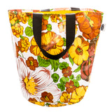 Freckled Sage Oilcloth Grocery Sak Tote in Garden Yellow
