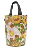 Freckled Sage Oilcloth Grocery Sak Yellow