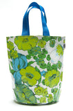 Freckled Sage Oilcloth Grocery Sak Green