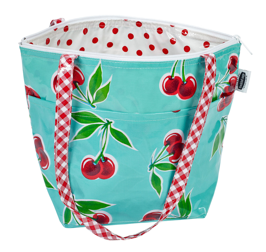 Freckled Sage Insulated Thermal Lunch Bag Cherry Aqua