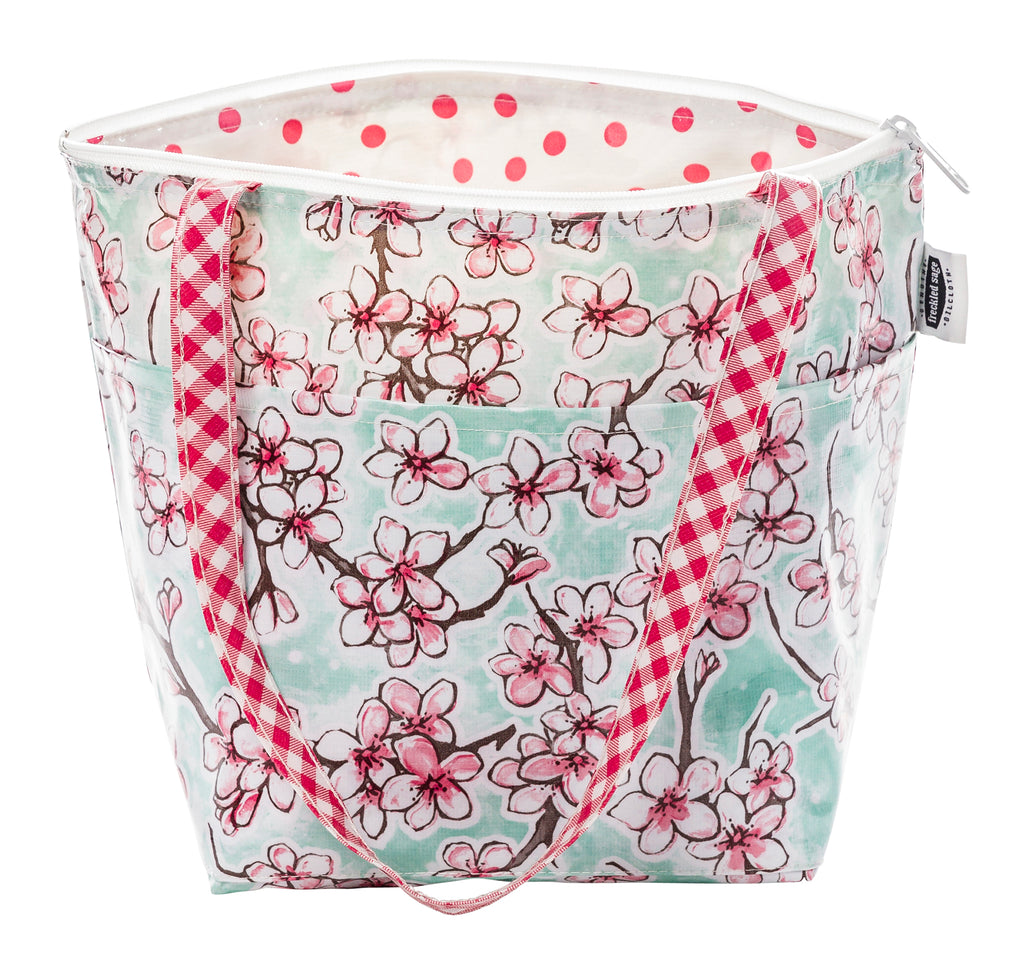 Freckled Sage Insulated Thermal Lunch Bag Cherry Blossom Aqua