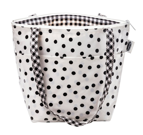 Freckled Sage Insulated Thermal Lunch Bag Dot Black