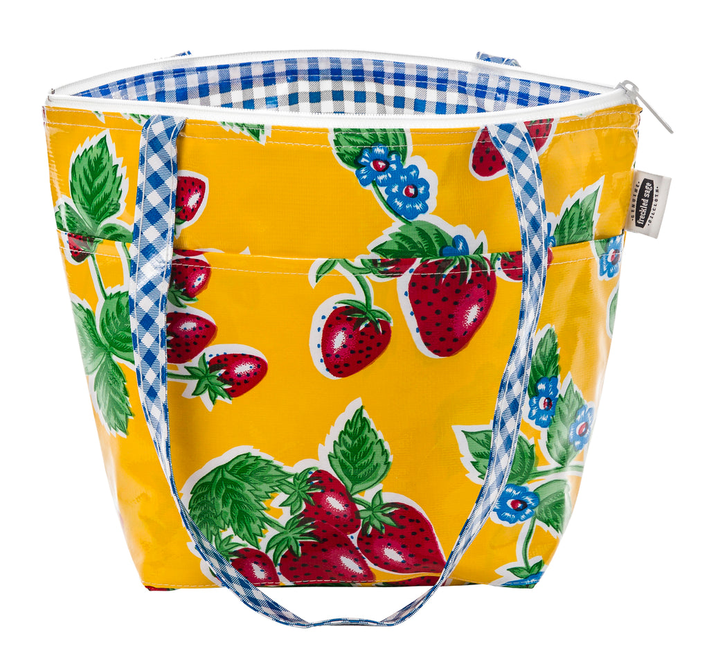 Freckled Sage Insulated Thermal Lunch Bag Strawberry Yellow