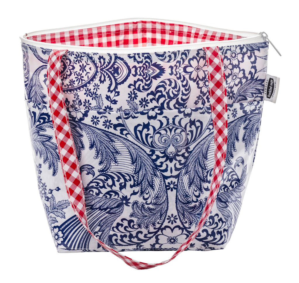 Freckled Sage Insulated Thermal Lunch Bag Toile Blue