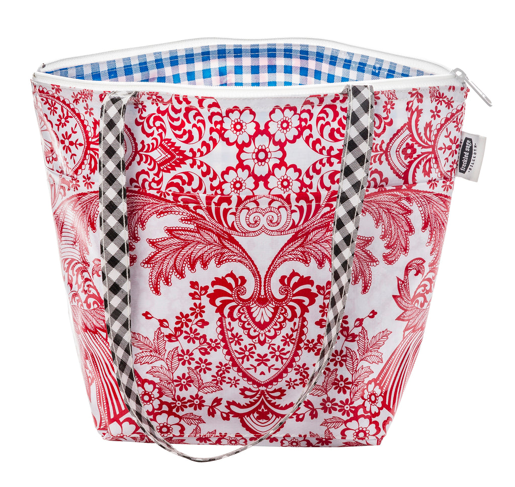Freckled Sage Insulated Thermal Lunch Bag Toile Red