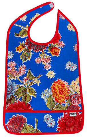 Freckled Sage Adult Bib Mum Blue