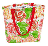 Freckled Sage Oilcloth Market Bags Hydrangea White