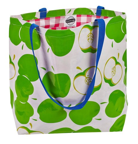 Freckled Sage Oilcloth Market Bag Mod Apple Green