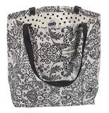 Freckled Sage Oilcloth Market Bags in Toile Black