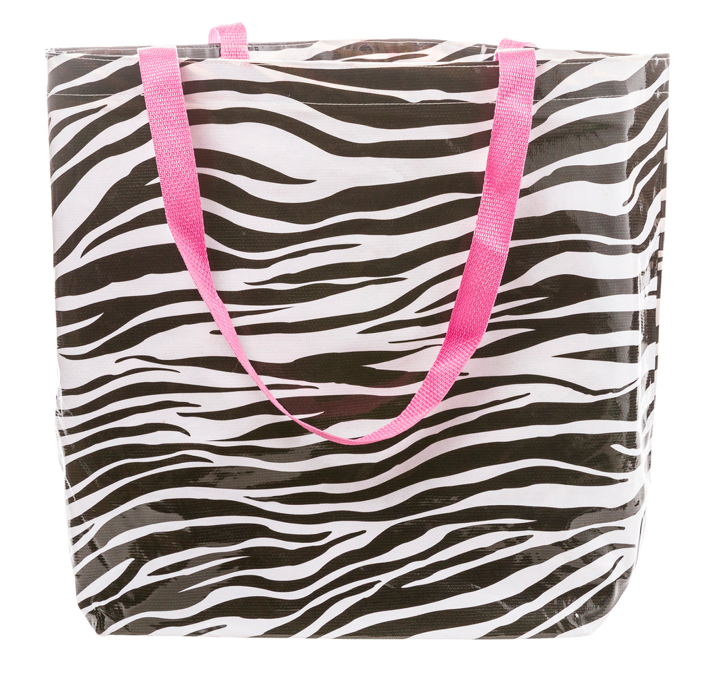 Freckled Sage Oilcloth Market Bag in Zebra