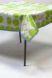 Mod Apple Green Oilcloth Tablecloth