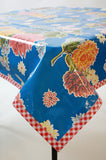 Mum Blue Oilcloth Tablecloth