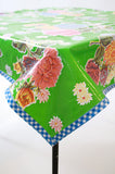 Mum Green OIlcloth Tablecloth