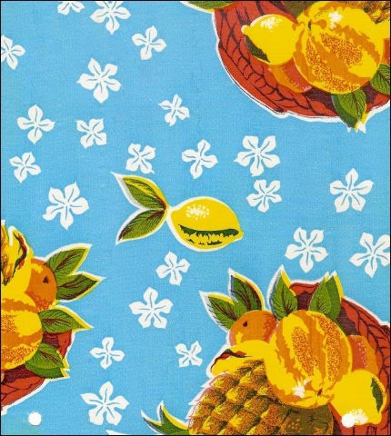 Round OilclothTablecloths in Pineapple Collection