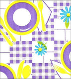 Picnic Purple and Yellow Oilcloth Tablecloth
