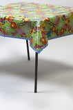 Sugarcane lime green fruit oilcloth tablecloth