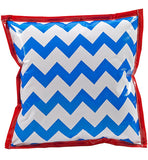 Freckled Sage Oilcloth Pillow Chevron Blue