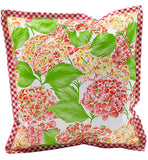 Freckled Sage Oilcloth Pillow Hydrangea White