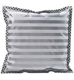 Freckled Sage Oilcloth Pillow Stripe Silver