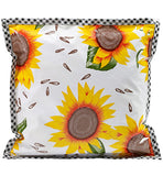 Freckled Sage Oilcloth Pillow Sunflower