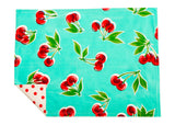 Freckled Sage Placemat Cherry Aqua