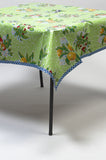 Plum lime Oilcloth Tablecloth