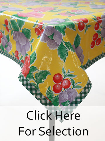 Poppy Yellow Oilcloth  Tablecloth