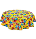 Freckled Sage Oilcloth Tablecloth Bloom Yellow