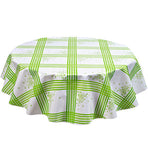 Freckled Sage Round Tablecloth Lime Cornflower
