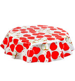 Round Oilcloth Tablecloths in Mod Apple Red