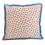 Freckled Sage Oilcloth Pillow Dot Red