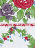 Sale Rose Vine Red Oilcloth Tablecloth