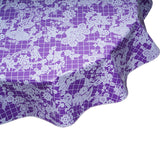 FreckledSage.com Round Tablecloth Day of Dead Purple