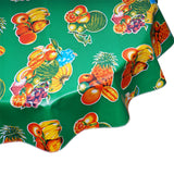 FreckledSage.com Round tablecloth Tropical Fruit Green