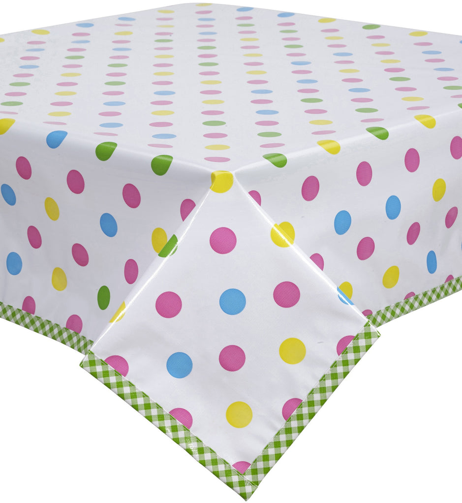 Freckled Sage Oilcloth Tablecloth Big Dot Pink