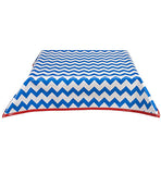 Freckled Sage Oilcloth Tablecloth Chevron Blue
