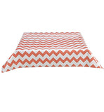 Freckled Sage Oilcloth Tablecloth Coral Chevron