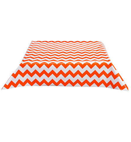 Freckled Sage Oilcloth Tablecloth Chevron Orange