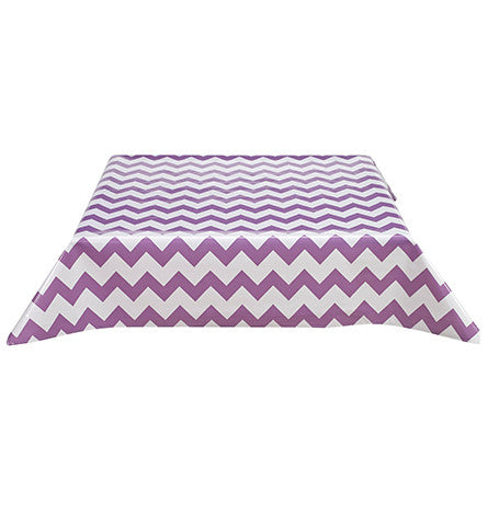 Freckled Sage Oilcloth Tablecloth Chevron Purple